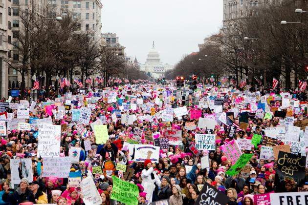 Women's March protest in Washington, DC in 2017