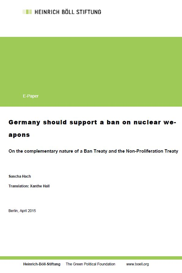 Germany should support a ban on nuclear weapons